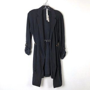 NWT Anthro Long Knit Cardigan with Roll Sleeves XS